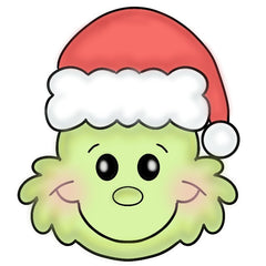 Grinch with Santa Hat