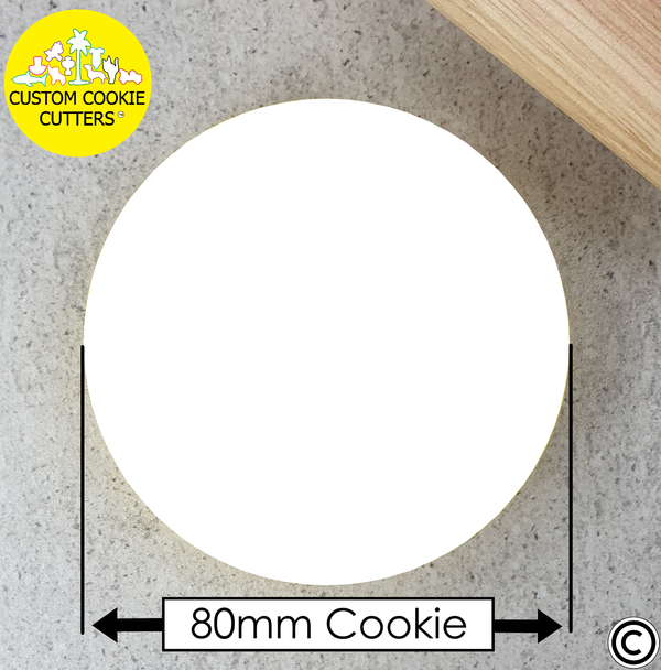 80mm Custom Round Cookie Embosser