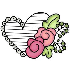 Ruffle Floral Heart