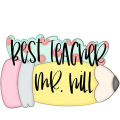 Best Teacher Pencil Plaque