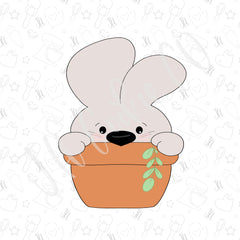 Bunny in Flower Pot