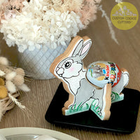 Standing Bunny Egg Holder with Optional 3D debosser