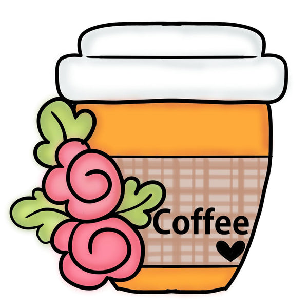 Floral Coffee To-Go Cup