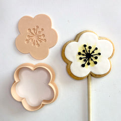 Little Biskut Open Flower Cutter & Embosser Set