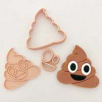 Little Biskut Poo Emoji Stamp and Cutter Set