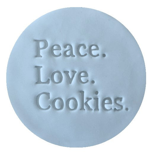 Little Biskut Peace Love Cookies Embosser