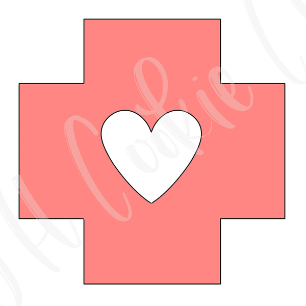 Red Cross (with Heart Cutout)