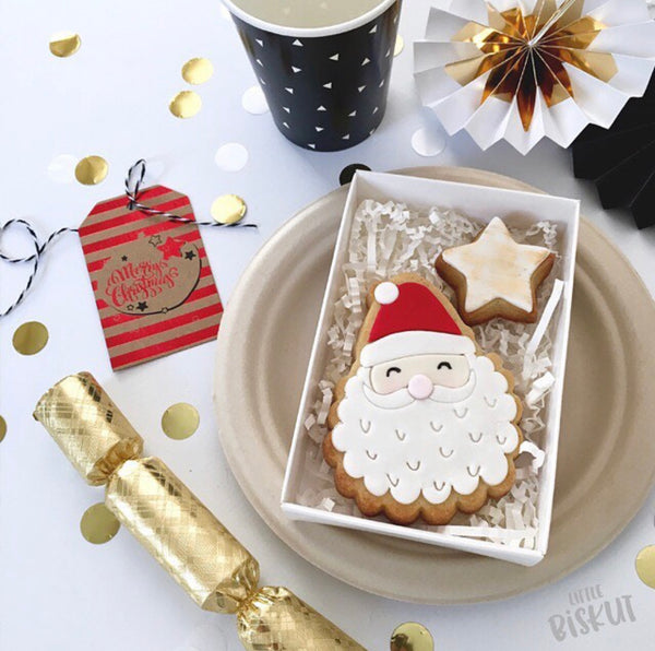 Little Biskut Santa Stamp and Cutter Set