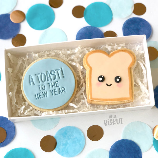 Toast To The New Year Cutter & Embosser Set (Little Biskut)
