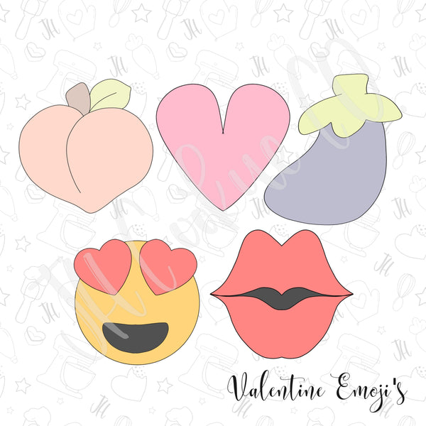 Valentine Emoji Mini Set