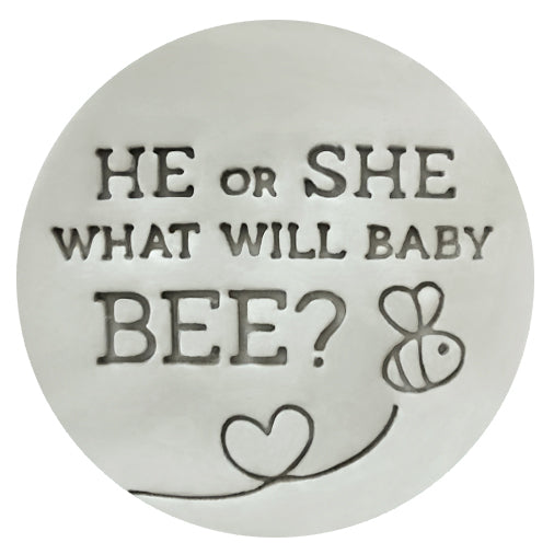 Little Biskut He or She What Will Baby Bee? Embosser