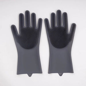 Cleaning Brush Scrubber Gloves