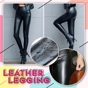 Women Winter Leather Leggings