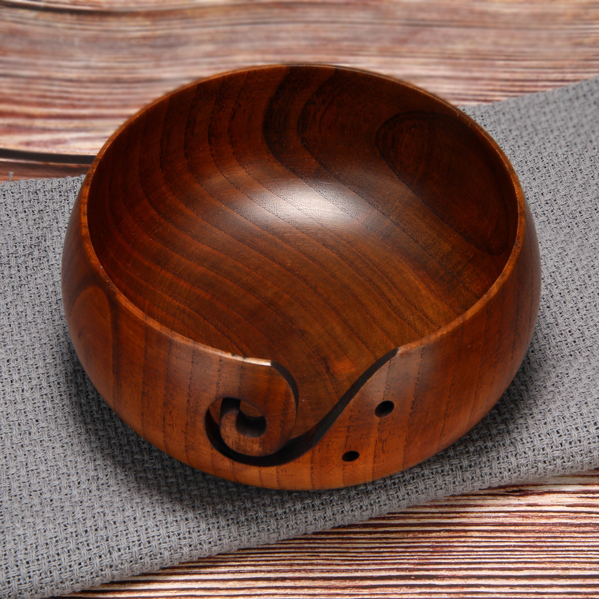 Handmade Yarn Wooden Bowl
