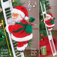 Christmas Santa Claus Climbing Ladder
