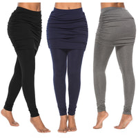 Two Pieces Slim Skirted Leggings
