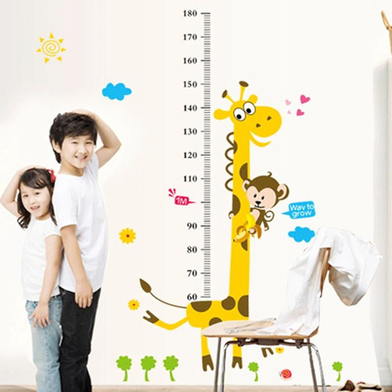 Giraffe Height Ruler Wall Sticker - DidntKnowINeedThat