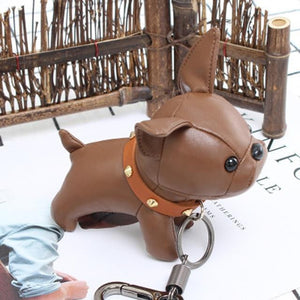 DKINT™ French Bulldog PU Leather Keychain / Bag Charm Trinket - DidntKnowINeedThat