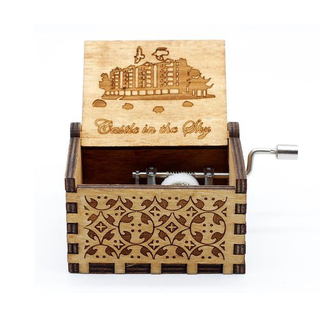 Hand Cranked Wood Music Box - DidntKnowINeedThat