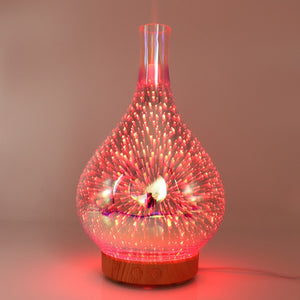 3D Fireworks Humidifier & Oil Diffuser