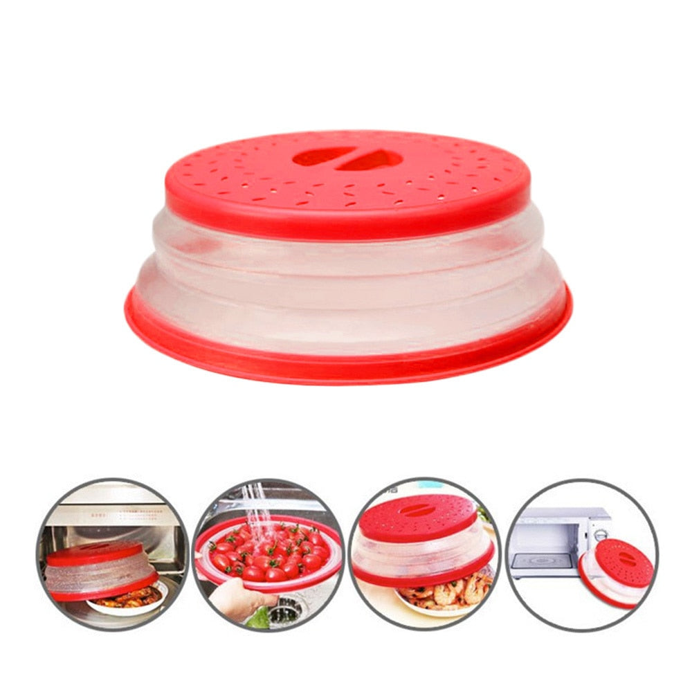 Collapsible Microwave Drain Plate Lid