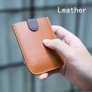 Cascaded Leather Card Holder - DidntKnowINeedThat