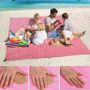 Magic Sand Absorbing Beach Mat - DidntKnowINeedThat