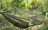 Outdoor Hammock Double With Parachute Cloth And Portable Mosquito Net - DidntKnowINeedThat