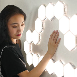Quantum Touch Sensitive Magnetic Hexagons Lamp - DidntKnowINeedThat