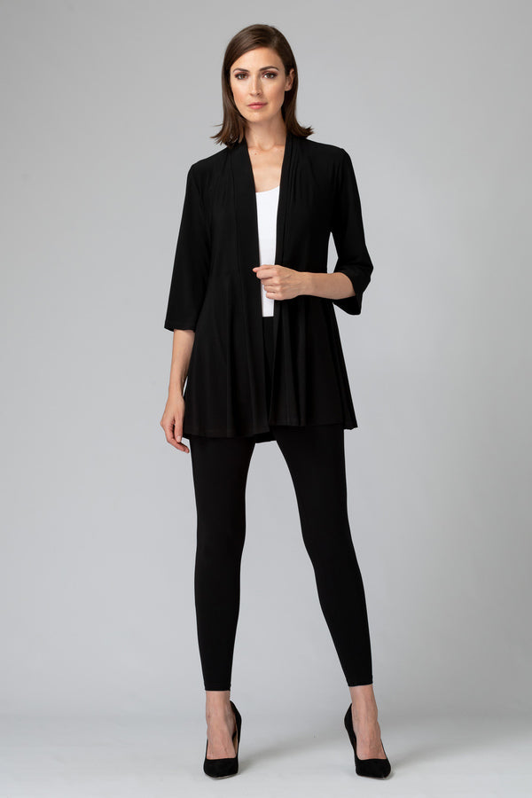 Essential 3/4 Sleeve Black Cover-Up