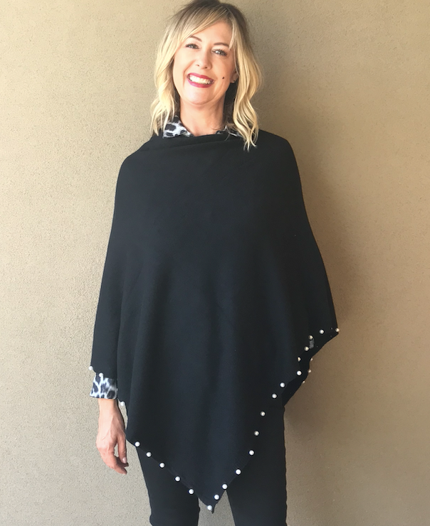 Audrey Pearl Knit Poncho