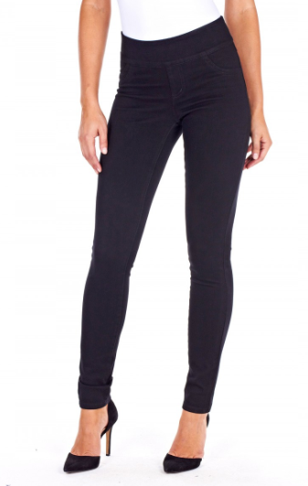 Black Slimming Mid-Rise Love Denim by FDJ