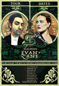 EVAN+ZANE: Jealousy | Fall 2018 Tour Poster