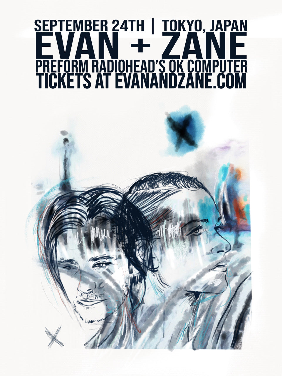 EVAN + ZANE: OK Computer | Tokyo, Japan | September 24th, 2018 | PERSONALLY AUTOGRAPHED by Evan Rachel Wood + Zane Carney (Only 50 Available)