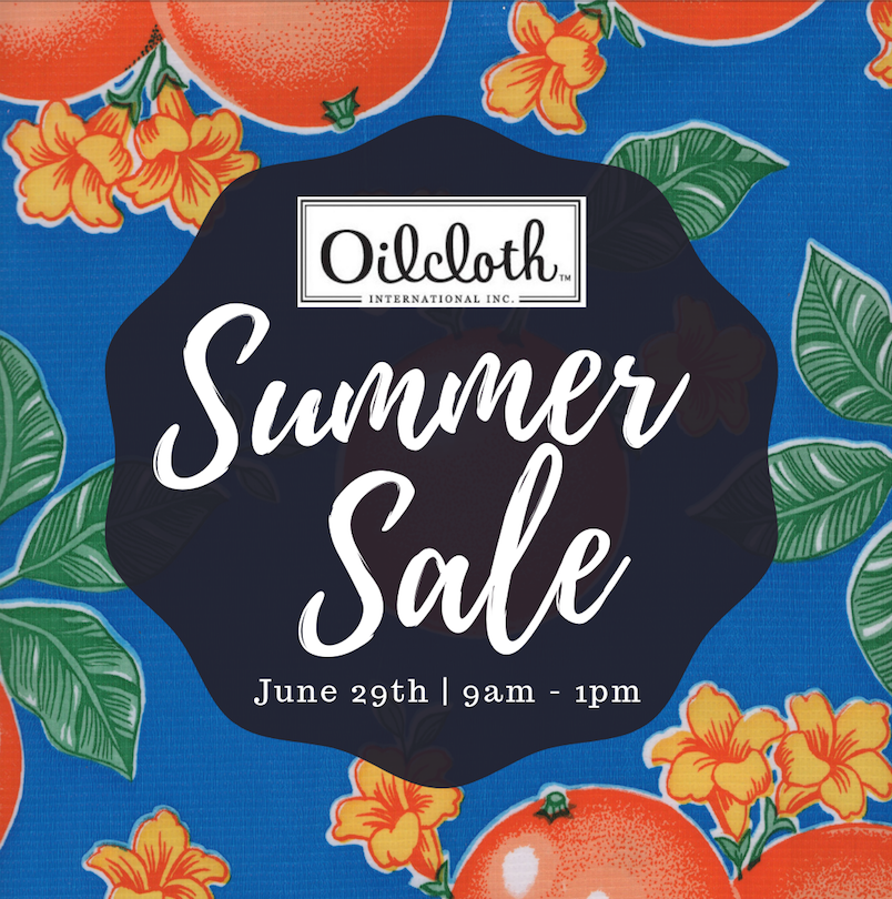 OILCLOTH SUMMER SALE 2019