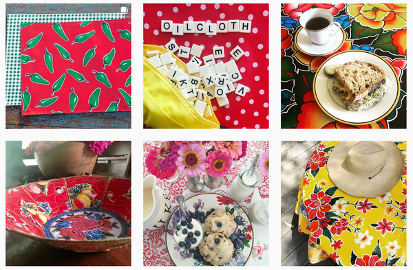 oilcloth oil cloth instagram facebook chiles polka dot tehuana hibiscus paradise lace pears and apples mexican fabric