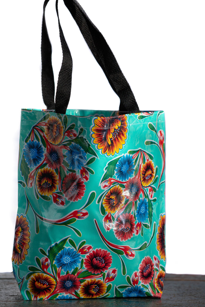 Bloom Aqua Medium Tote