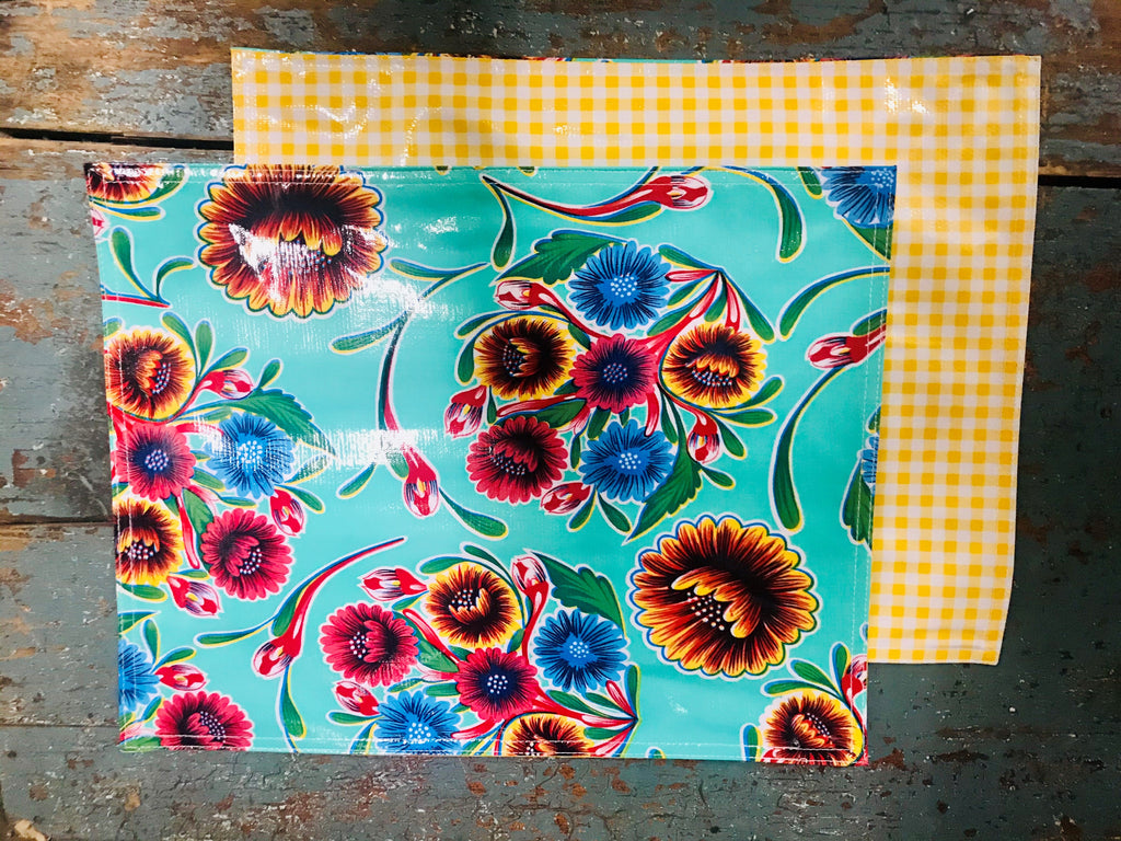 Bloom Aqua Placemat