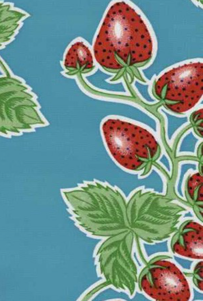 Strawberries on Sky Blue