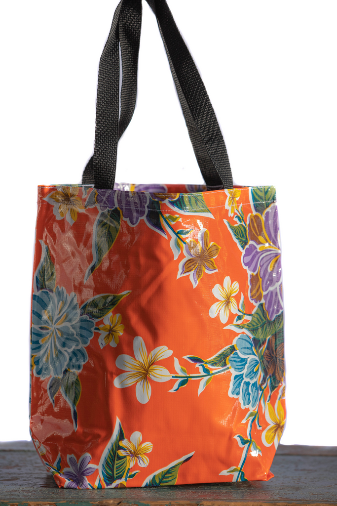 Hibiscus Orange Medium Tote
