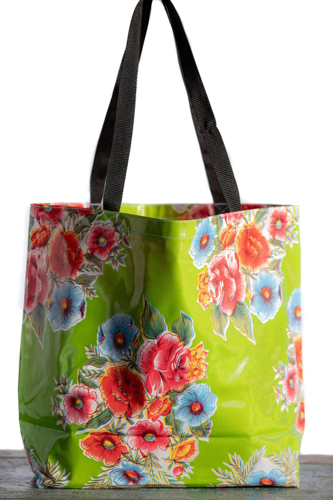 Lady Bird Green Large Tote