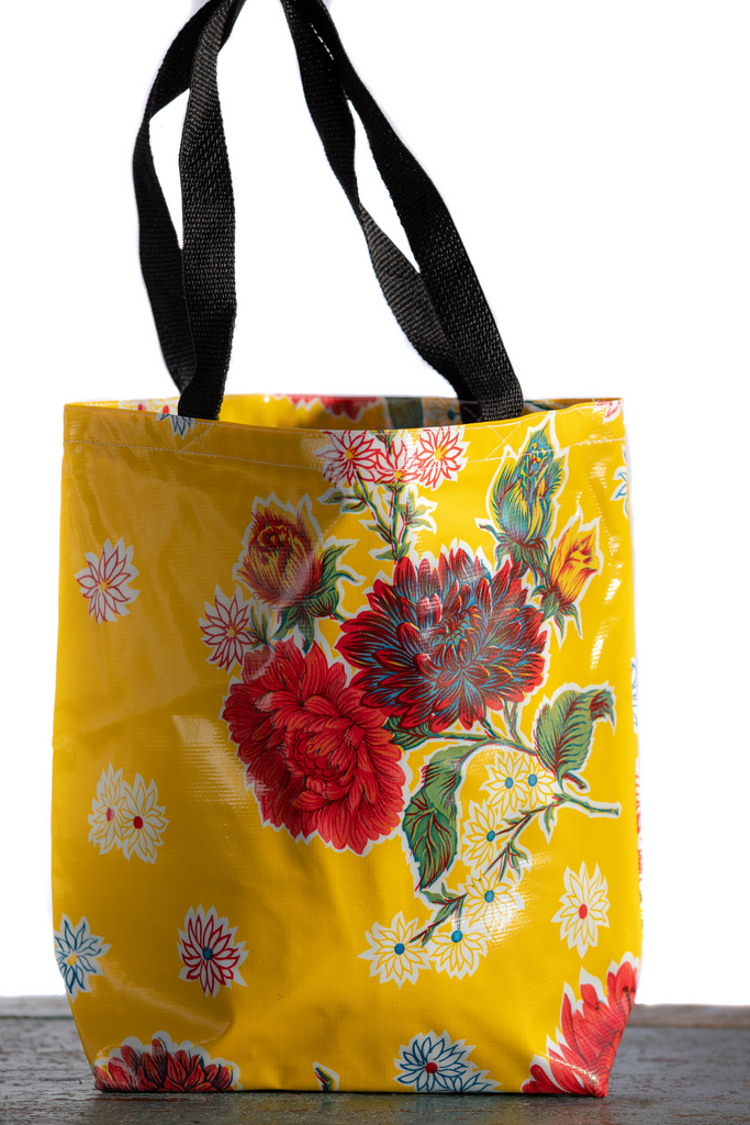 Mums Yellow Medium Tote