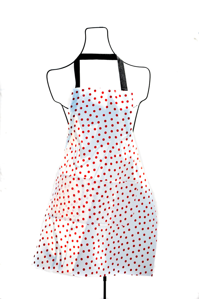 Polka Dot Red Apron