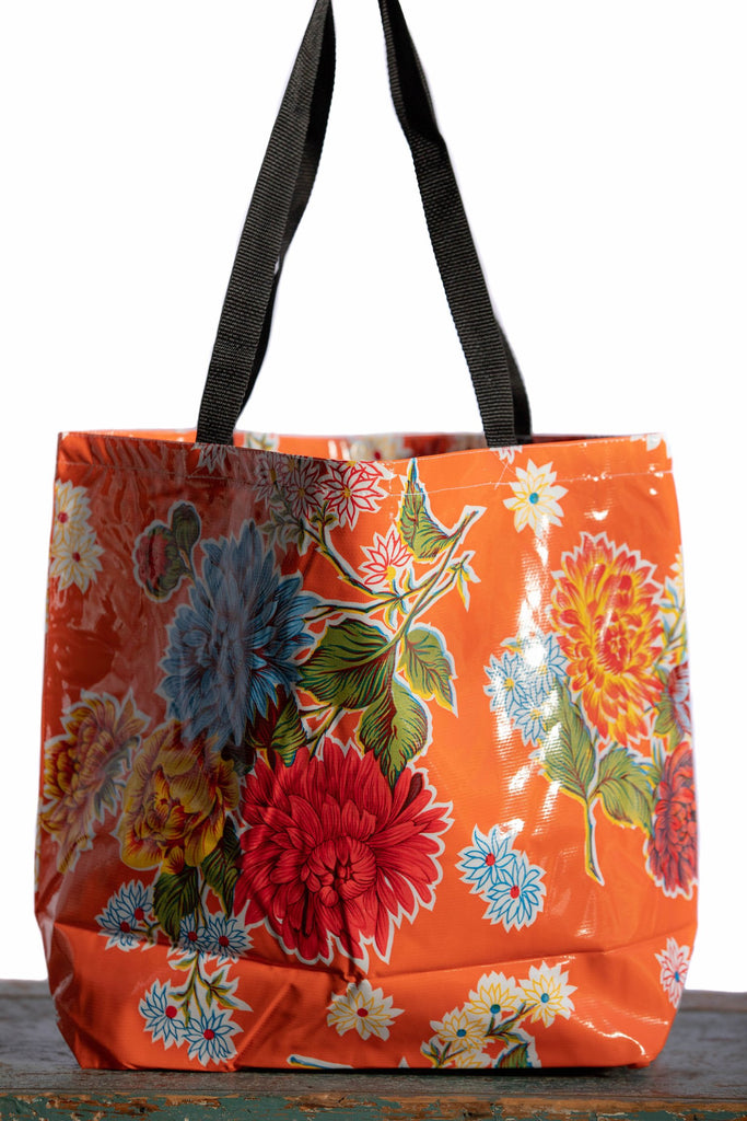 Mums Orange Large Tote