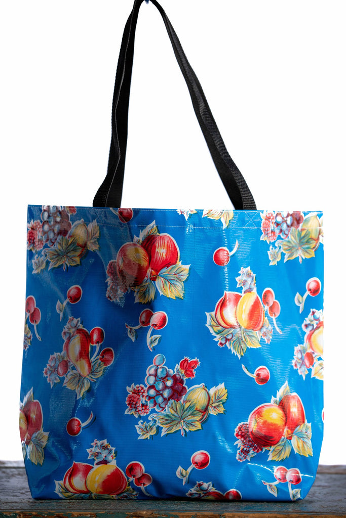 Pears & Apples Blue Large Tote