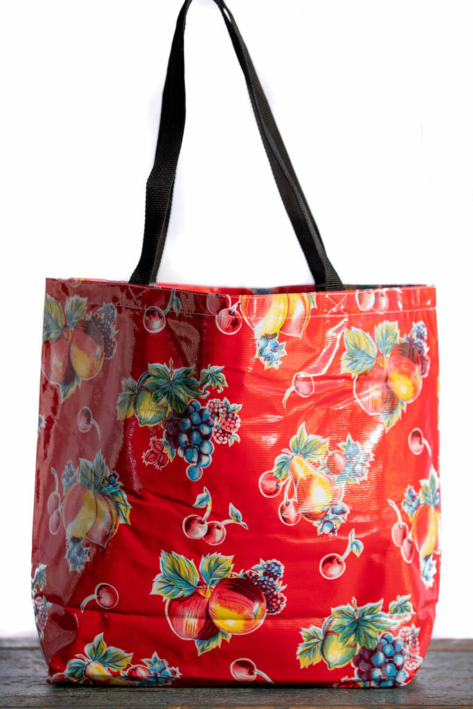 Pears & Apples Red Large Tote