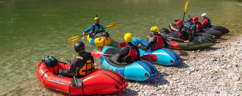 Packraft Guides on the Salza