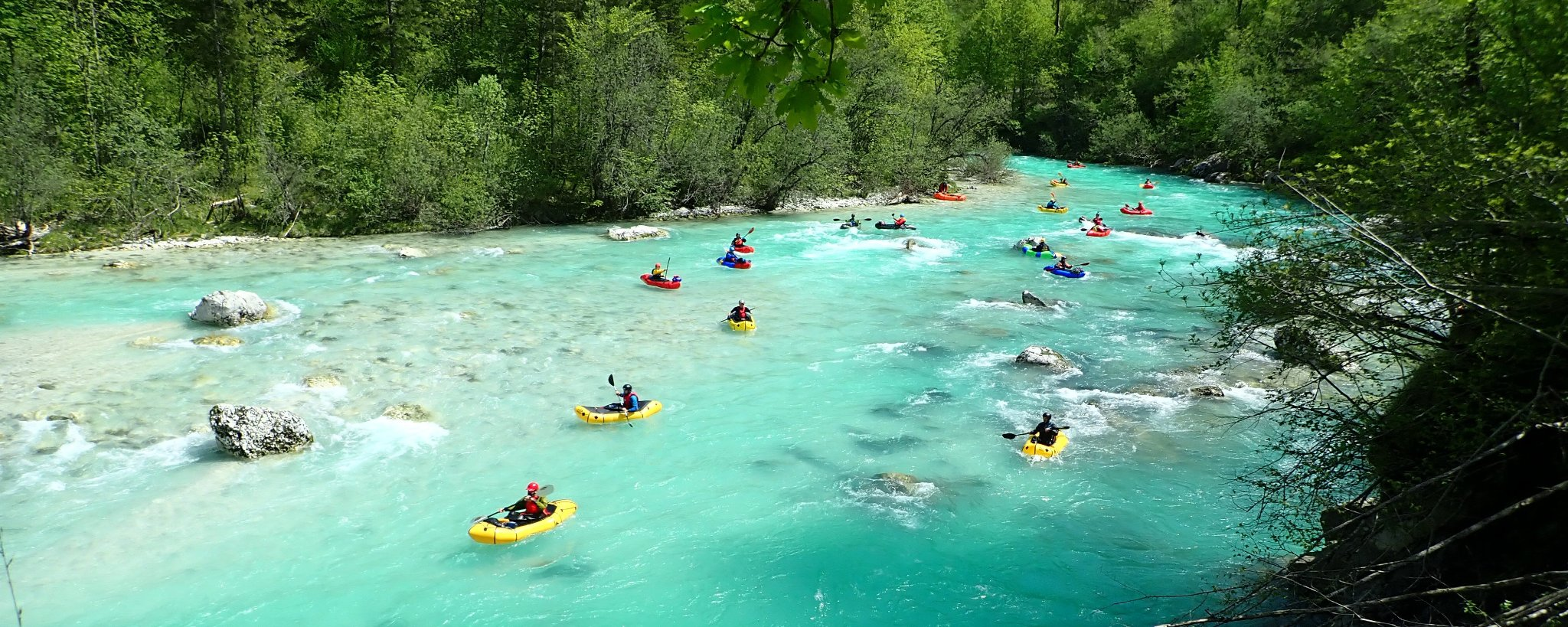 European Packrafting Meet up Soca River Slovenia