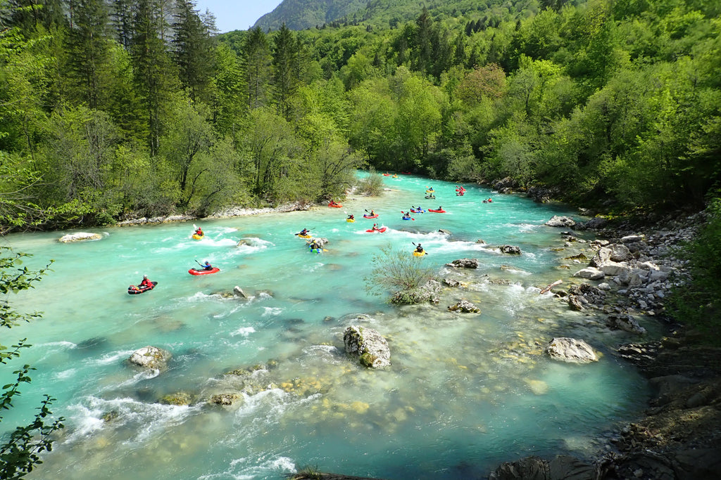 European Packrafting Meet up on the Soca River