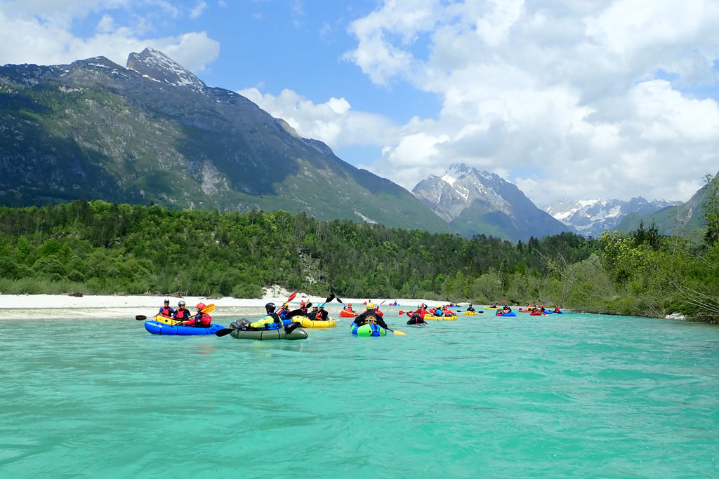 Group packrafting at the 2018 European Packrafting Meetup.